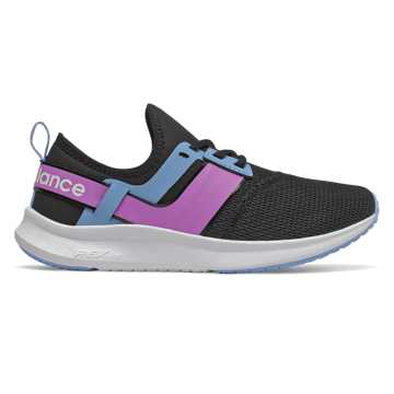 New Balance NB Nergize Sport, Black with Neo Violet & Team Carolina