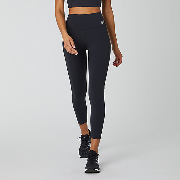 New Balance Legging court à taille haute avec poche Transform, WP01141BK