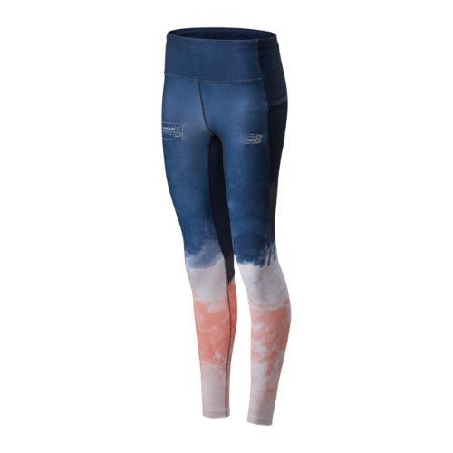 New Balance Mujer London Marathon Premium Printed Impact Run Tight - White, White