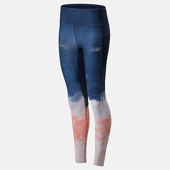 NB London Marathon Premium Printed Impact Run Leggings, WP01249DMPT