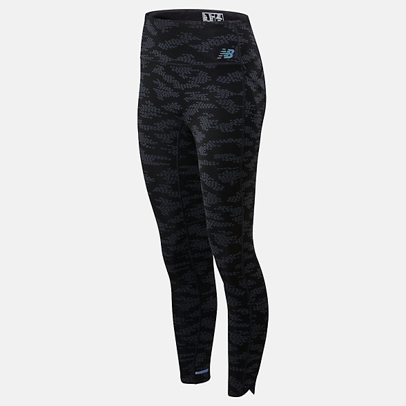 New Balance Q Speed Run Crew Tight, WP01263BK