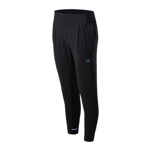New Balance Mujer Q Speed Run Crew Pant - Black, Black