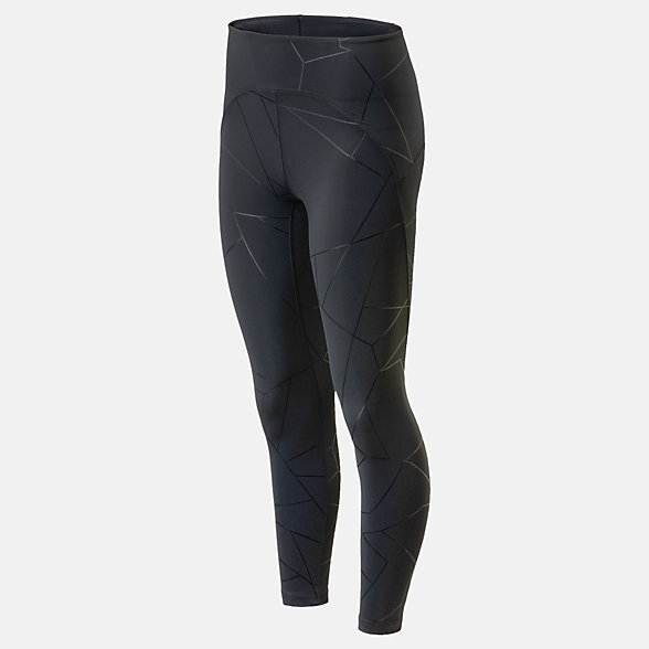 New Balance Balance Printed Ultra High Rise Tight, WP01453BK