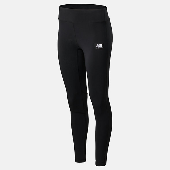 New Balance Archive Run Legging, WP01522BK