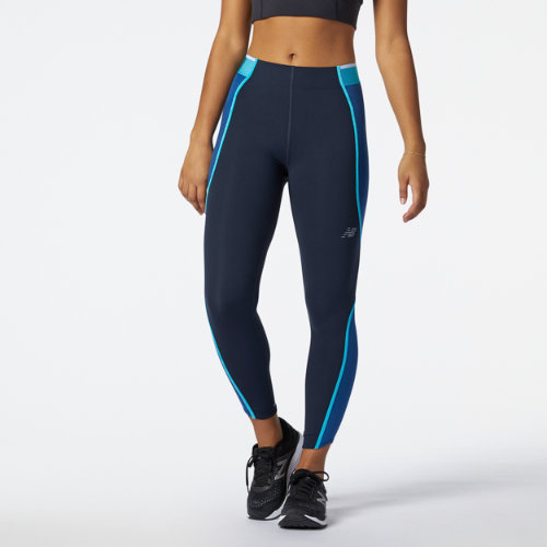 New Balance Mujer Q Speed Fuel Novelty 7/8 Tight - Blue, Blue