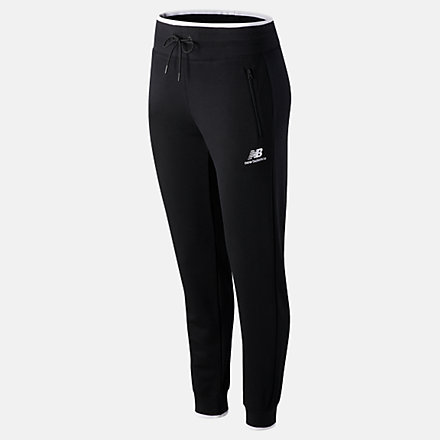 New Balance NB Athletics Village Fleece Pant, WP03506BK image number null