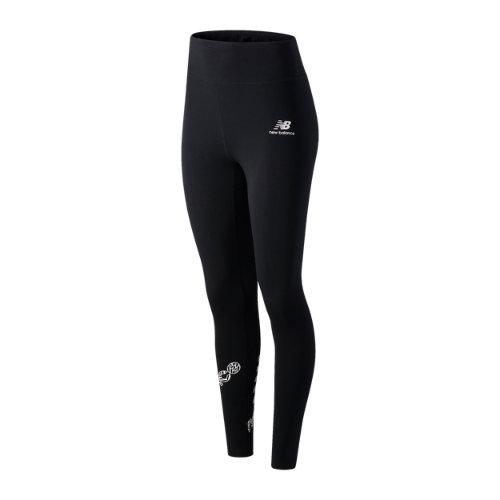 New Balance Mujer NB Athletics Animal Print Legging - Black, Black