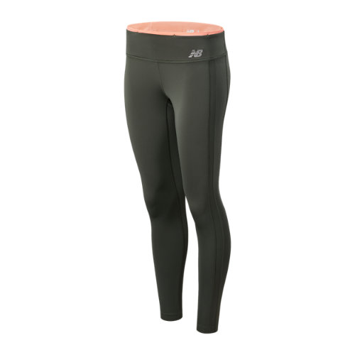 New Balance Mujer Accelerate Colorblock Tight - Green, Green