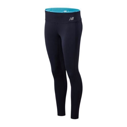 New Balance Mujer Accelerate Colorblock Tight - Blue, Blue