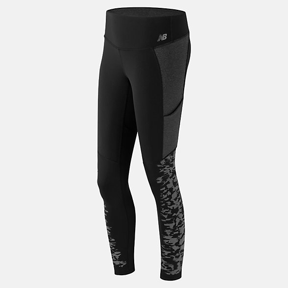 New Balance Reflective Tight, WP61143BK