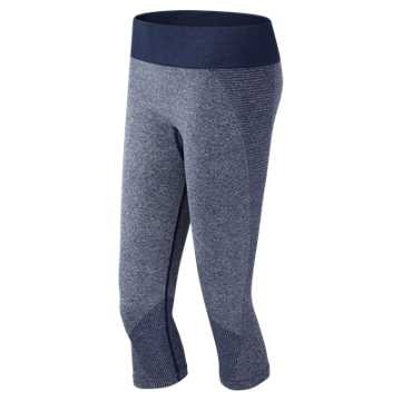 New Balance J.Crew M4M Seamless Capri, Navy Heather