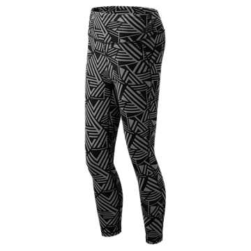 New Balance High Rise Transform Printed Crop, Athletic Grey with Black