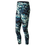 New Balance High Rise Transform Printed Crop, Black Thermal Wrapping