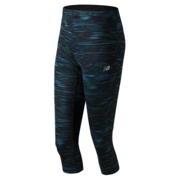 New Balance Impact Printed Capri, Black