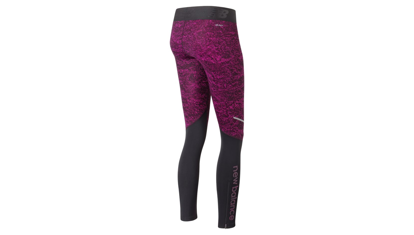 NB Accelerate Printed Tight, Poisonberry Crinkle Texture