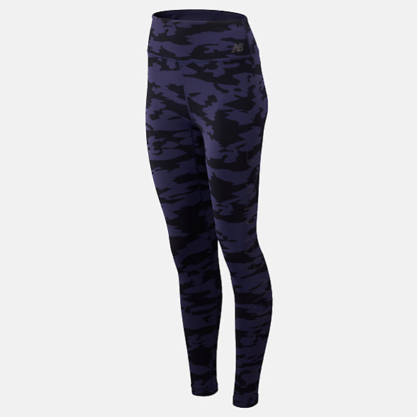 New Balance High Rise Transform Printed Tight, WP73144BKN