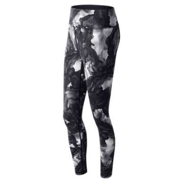 New Balance High Rise Transform Printed Tight, Sea Salt Glacial Print with Black