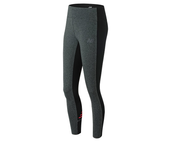 70c5f4ffb5981 NB NB Athletics Legging, Heather Grey with Guava