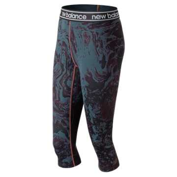 New Balance Printed Accelerate Capri, Petrol Heather