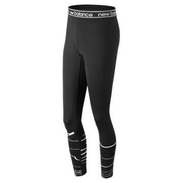 New Balance Printed Accelerate Tight, Black with White