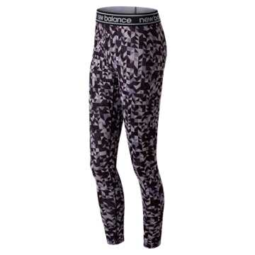 New Balance Printed Accelerate Tight, Elderberry