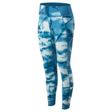 New Balance Printed Evolve Tight, Smoke Blue