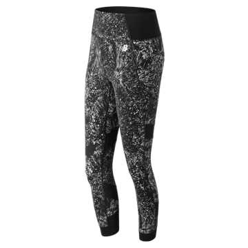 New Balance Printed Evolve Tight, Sea Salt
