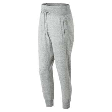 New Balance Heathered Sweatpant, Heather Grey