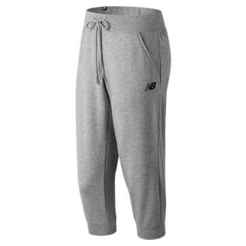 New Balance Essentials 3 Qtr Pant, Athletic Grey