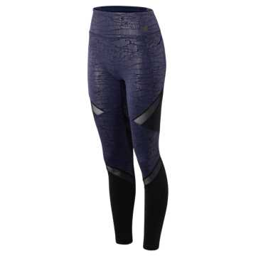 New Balance High Rise Transform Pocket Tight, Pigment with Black & Silver