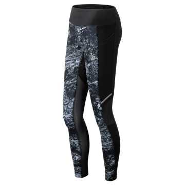 New Balance Printed Impact Tight, Black Multi