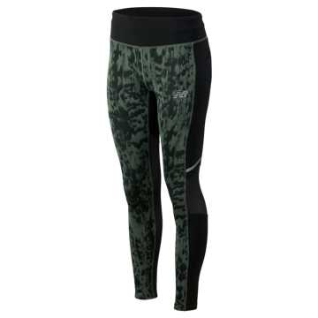 New Balance Printed Impact Tight, Slate Green