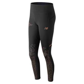 New Balance NYC Marathon Premium Printed Impact Tight, Black
