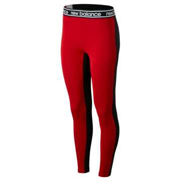 New Balance Relentless Colorblock Tight, Team Red with Black & White