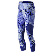 New Balance Printed Feel The Cool Crop, UV Blue