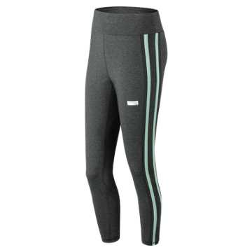New Balance NB Athletics Track Legging, Heather Charcoal