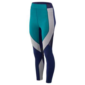 New Balance Reclaim Hybrid Tight, Tropical Green with Pigment Heather