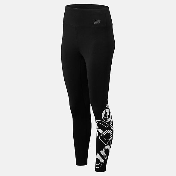 New Balance Relentless Highrise Graphic Tight, WP93142BKW