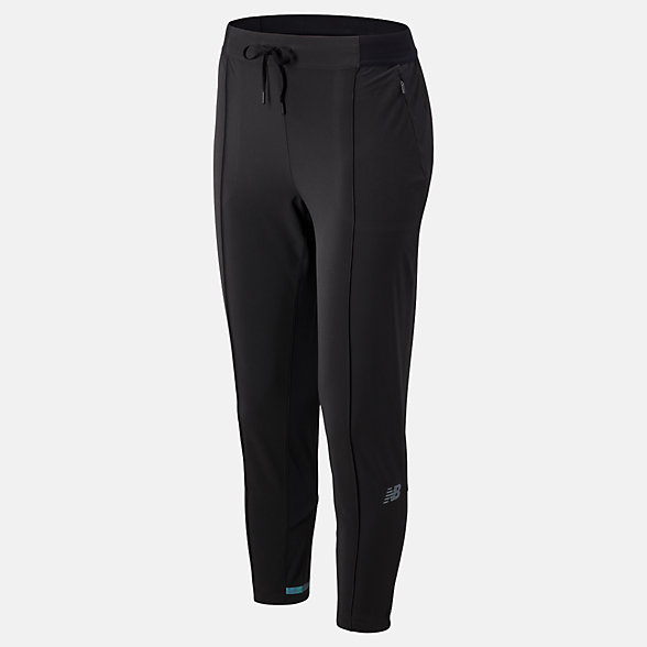 NB Pantaloni da tuta Q Speed Run Crew, WP93216BK