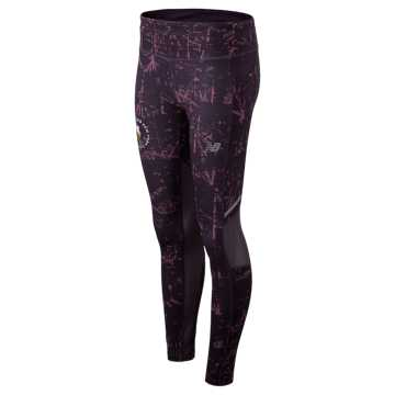 New Balance NYC Marathon Printed Impact Tight, Iodine Violet