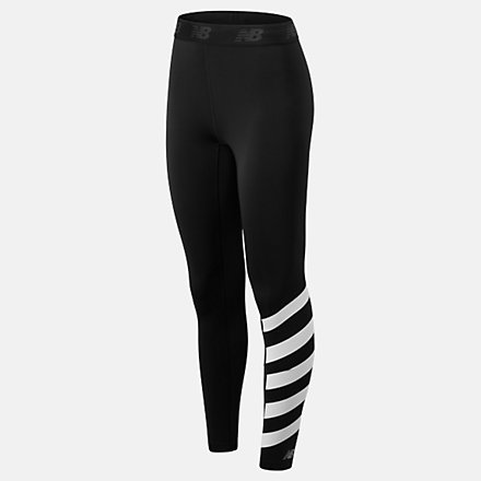 New Balance Printed Accelerate Tight, WP93284BK image number null