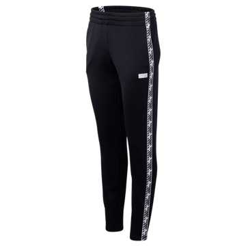 New Balance NB Athletics Classic Track Pant, Black with White