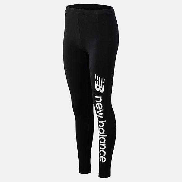 NB Sport Style Optiks Legging, WP93508BK