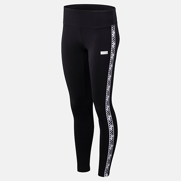 NB NB Athletics Classic Logo Legging, WP93560BK