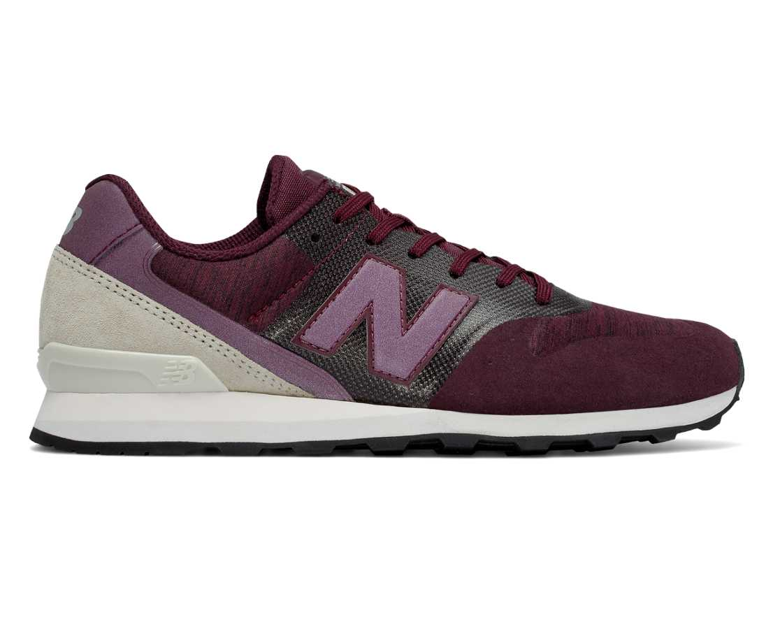 NB New Balance 996, Burgundy with Off White & Tan