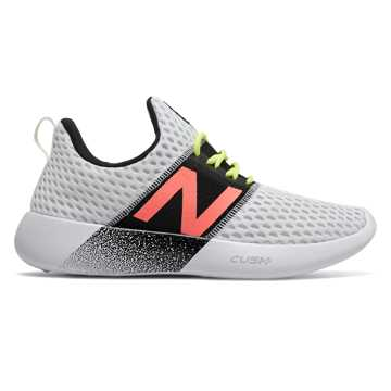 New Balance RCVRY v2, White with Black & Lemon Slush