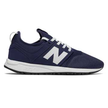 New Balance NB x J.Crew 247, White with Navy