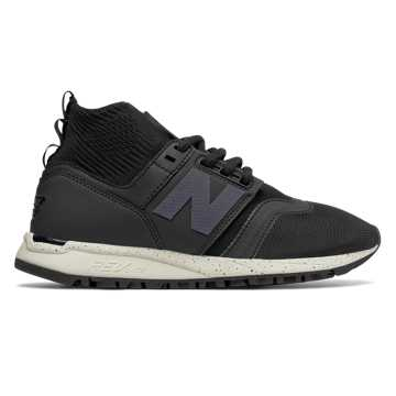 New Balance 247 Mid, Black with Sea Salt