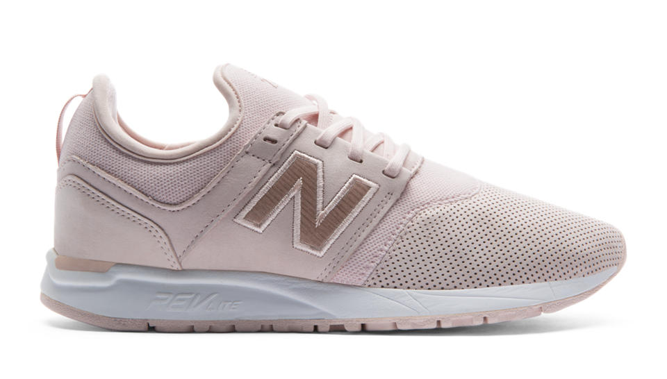 New Balance Women's Nubuck 247 Shoes Grey with White