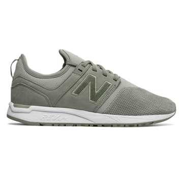 New Balance Nubuck 247, Silver Mint with White
